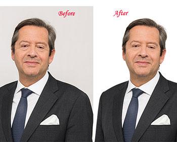 eye glare removal